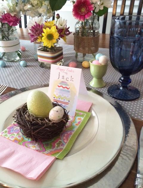 Easter folded card detail