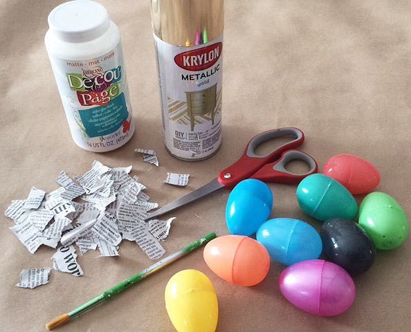 decoupage eggs materials