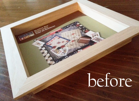 wood shadow box