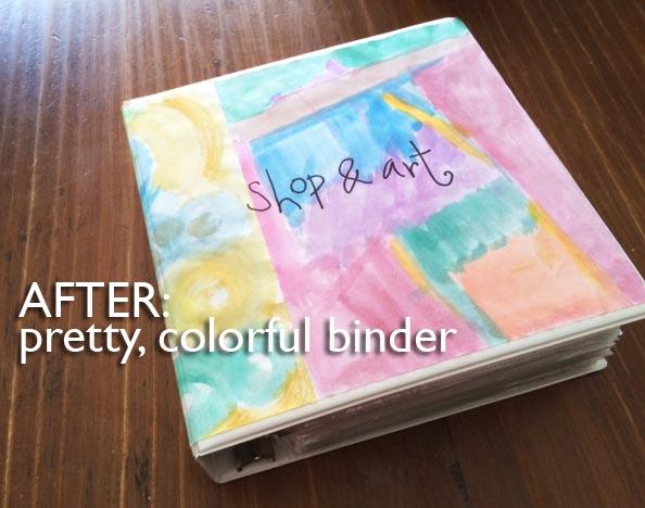 binder after