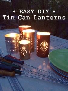 summer diy | tin can lanterns