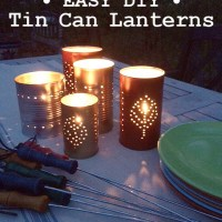 summer diy | tin can lanterns