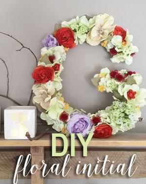 DIY floral initial