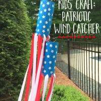 kids' craft: patriotic wind catcher
