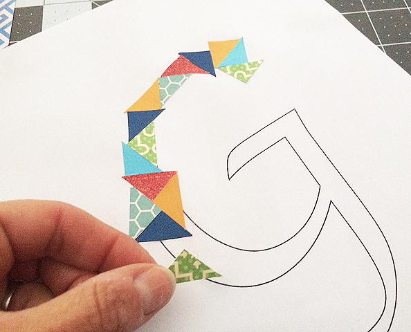 cut paper initial_glueing