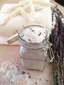homemade lavender & grapefruit bath salts