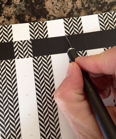 notebook cover cut squares