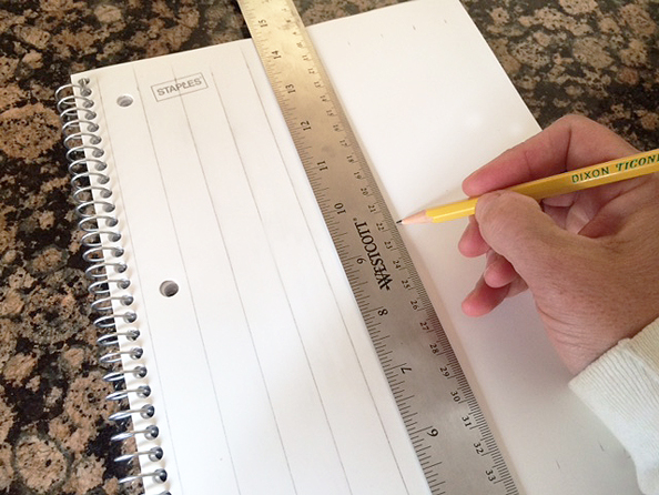 notebook cover measuring