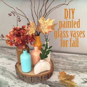 DIY colorful recycled glass vases