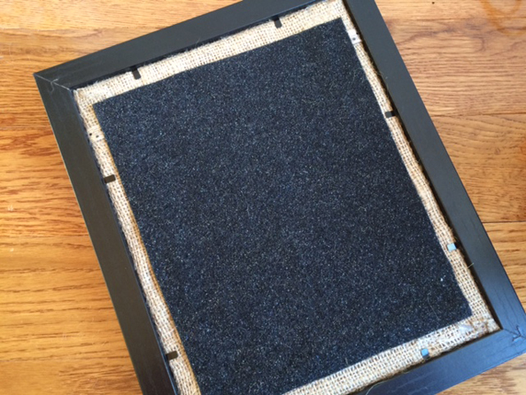 repurposed frame finish