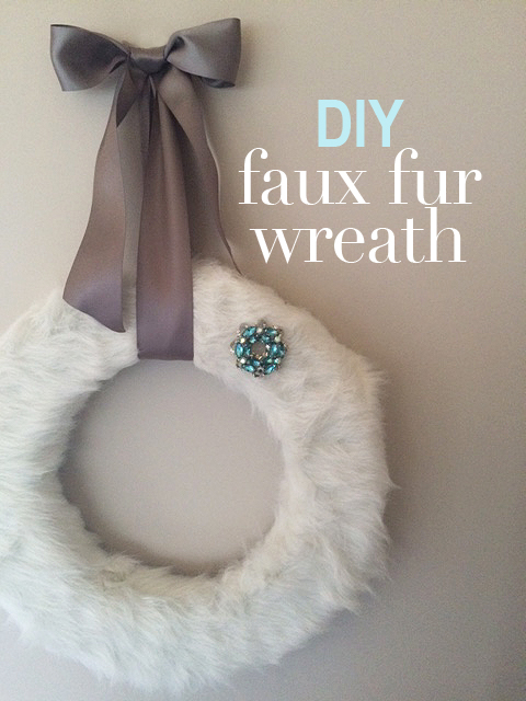 DIY faux fur wreath