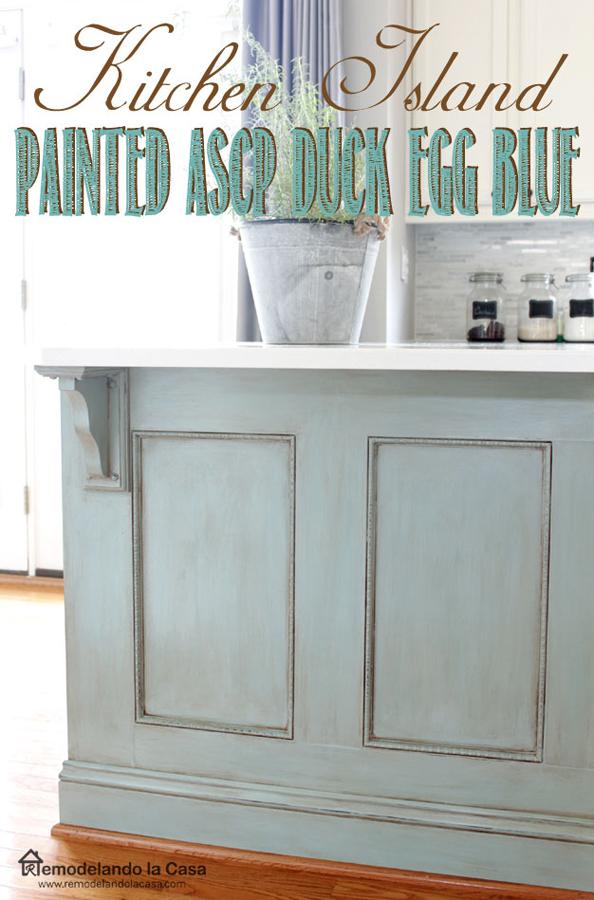 kitchen island_duck blue