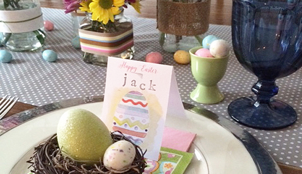 Easter place cards - FREE printable