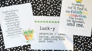 lucky you – St. Patrick's Day art prints