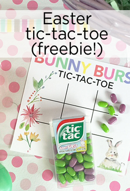 easter tic tac toe game idea