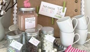 hot cocoa bunny bar | recipe & free labels