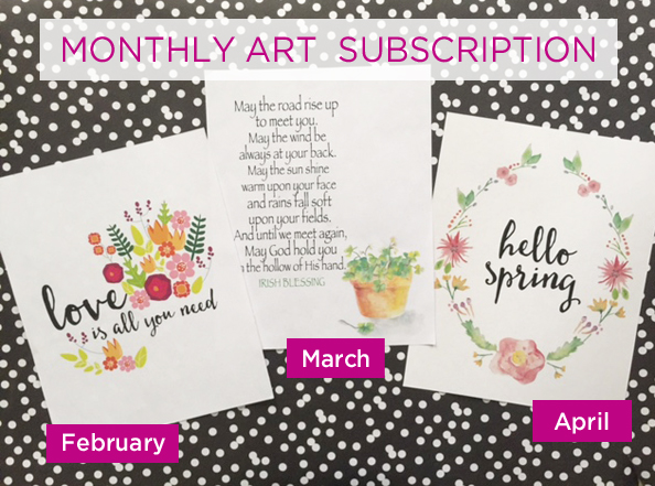 Monthly Art Subscription prints