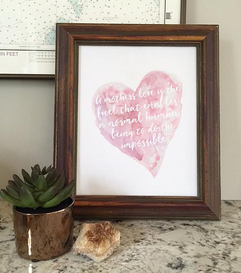 mday love print