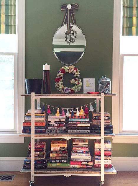 bookshelf full
