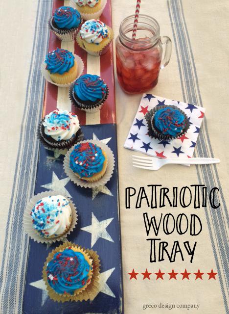 DIY Patriotic wood tray