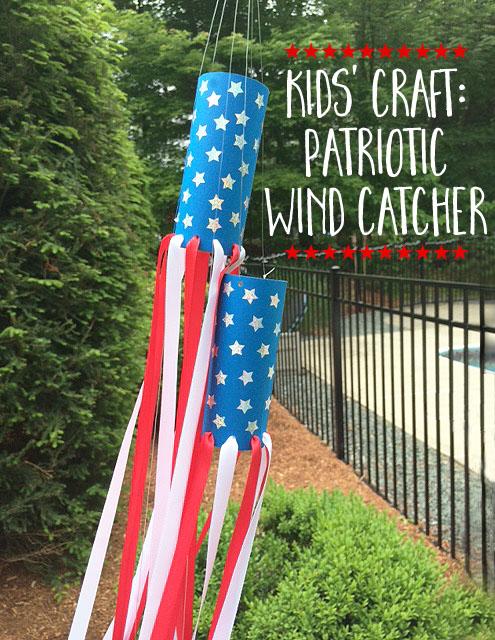DIY patriotic wind catcher