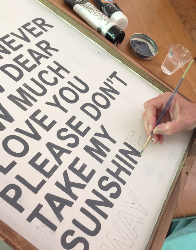 greco design_wood sign paint letters