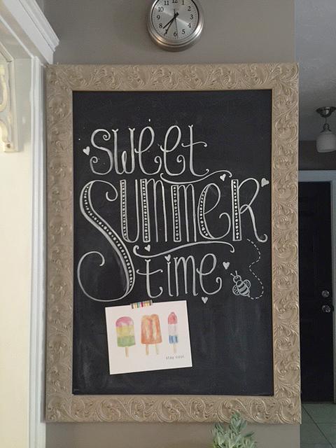 stay cool print chalkboard
