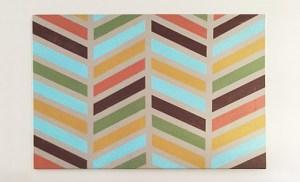 Easy Wall Art Ideas | Chapter Nine: Herringbone Art