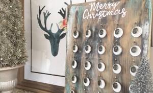 DIY meaningful, rustic style advent calendar