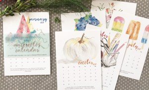 20% off the perfect gift | 2017 watercolor calendar