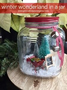 winter wonderland in a jar