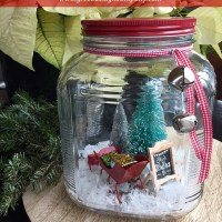 winter wonderland in a jar