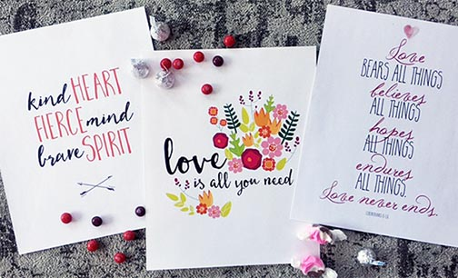 Valentine - or anytime - art prints