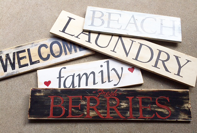 How to transfer type onto wood signs