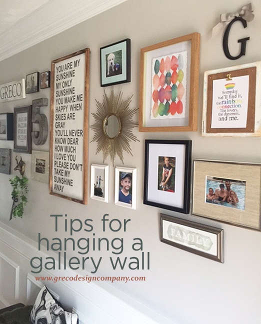 Tips for hanging a gallery wall