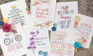 Spring art prints & a FREE Easter print
