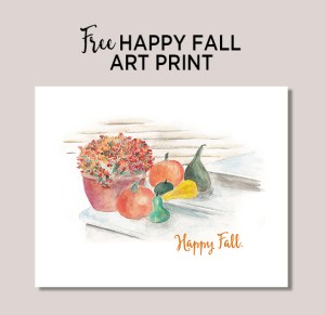 FREE fall art prints