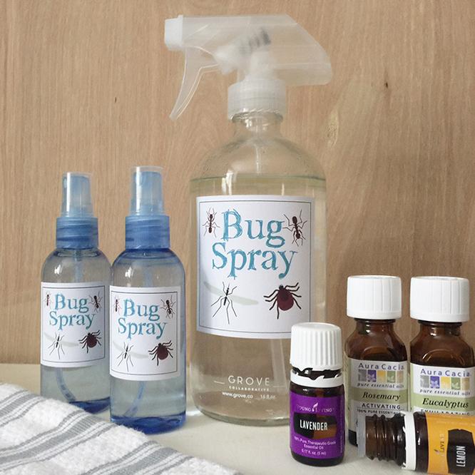DIY bug spray with free labels