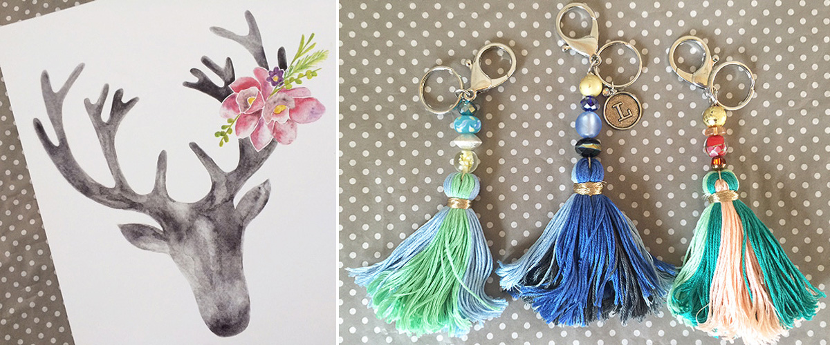 tassels and stag art