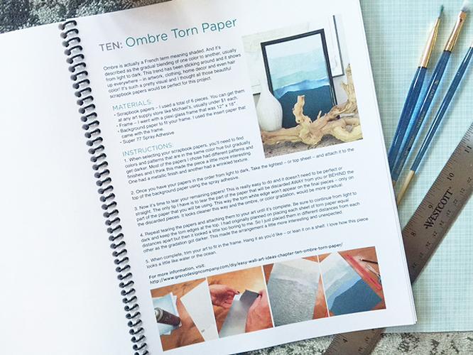 easy DIY wall art ideas book