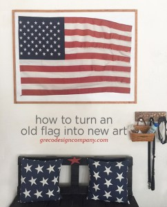 How to turn an old flag into new art