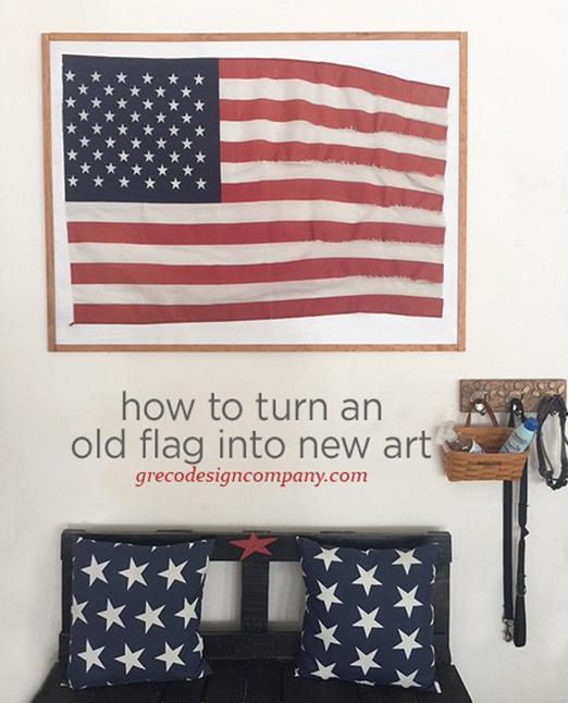 flag decor ideas and a FREE art print