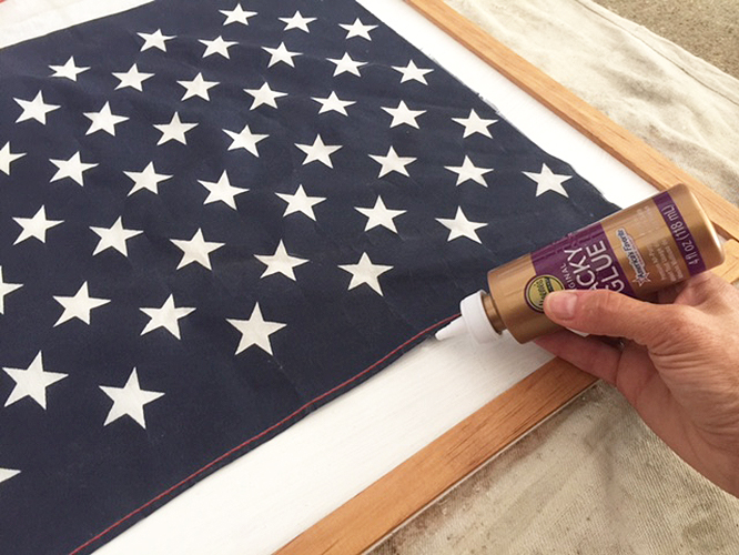 DIY project - how to turn an old flag into new art
