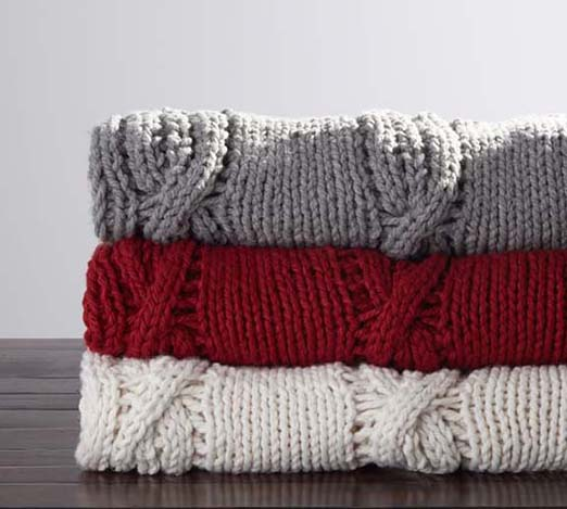 one of my favorite cozy throw blankets for fall from Pottery Barn