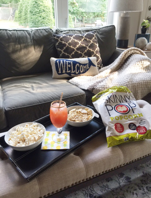 SkinnyPop popcorn and cocktail pairings for a delicious snack combination