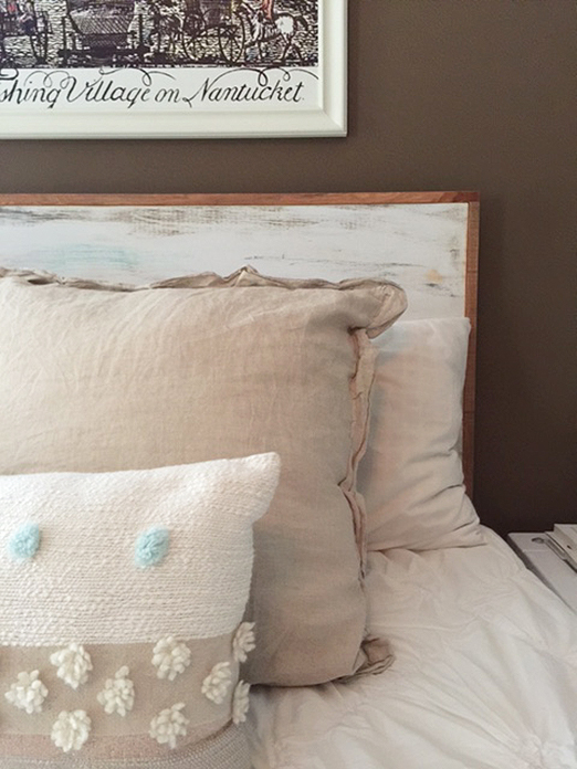 One room challenge bedroom makeover with DIY headboard