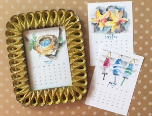 my 2018 watercolor calendars are here and a GIVEAWAY!