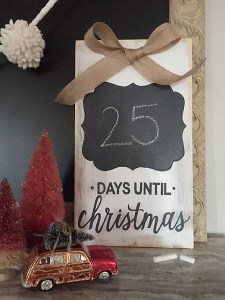 distressed wood & chalkboard advent calendar