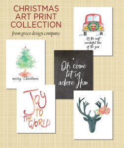 Etsy shop discounts & Christmas art print collection