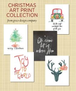 Etsy shop discounts & Christmas art print collection
